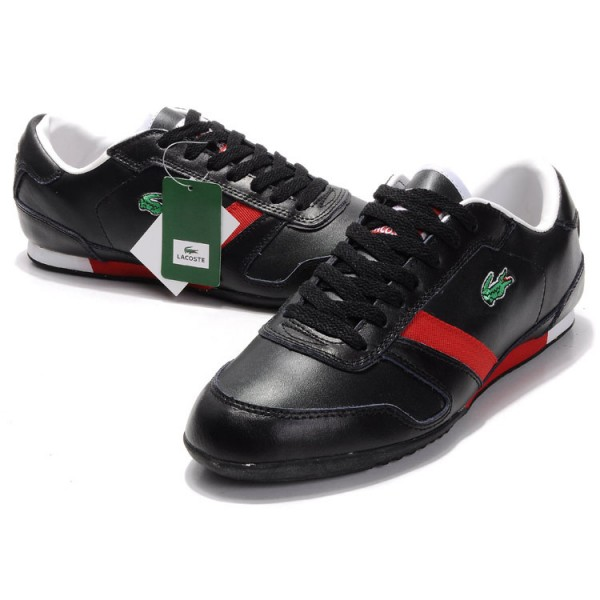 Lacoste shoes red and black