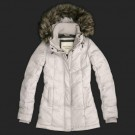 Abercrombie & Fitch Womens Fur Down Coat 8238