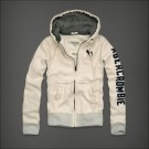 Abercrombie & Fitch Down Hoody White