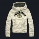 Abercrombie & Fitch Down Pullover Hoody White