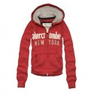 Abercrombie & Fitch Down Womens Hoody Red