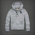 Abercrombie & Fitch Down Botton Hoody Light Grey