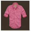 Abercrombie & Fitch Men's Shirts Pink53